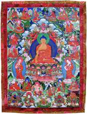 Будда и 16 архатов