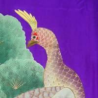 кимоно учикакес павлинами